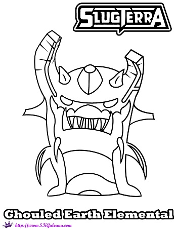 slugterra coloring pages tazerling ghoul - photo#14