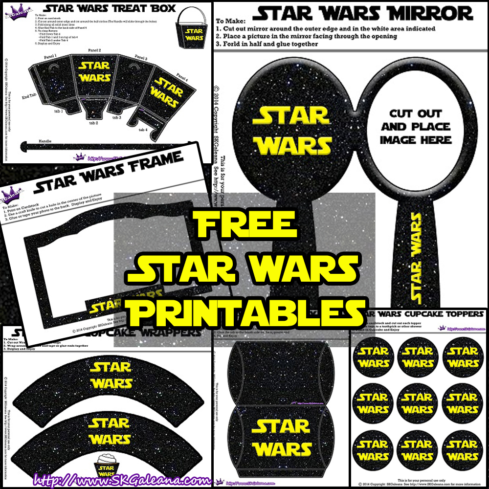 Free Star Wars Party Printables and Recipes! | SKGaleana