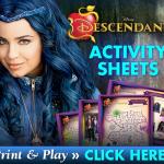 Descendants Free activity sheets SKGaleana