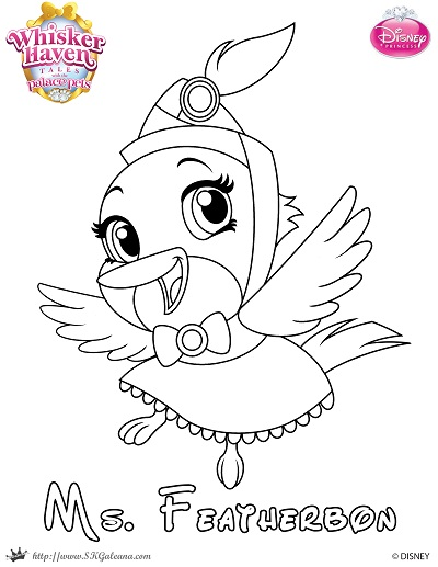 Disney Clips Palace Pets Coloring Pages S Princess Free And