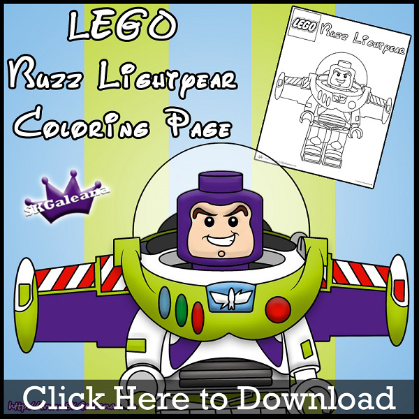 Free Lego Buzz Lightyear Printable Coloring Page SKGaleana