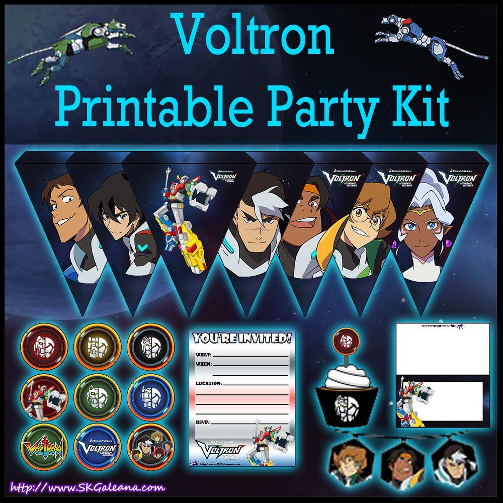 Printable Voltron Legendary Defenders Party Kit