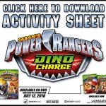 Power Rangers Printable Activity Sheet
