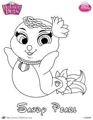 Free Palace Pets Coloring Page Of Sandy Pearl