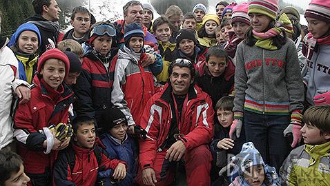 Алберто Томба преди 10 години в Банско, когато даде името си на писта Бъндерица. Снимка: Николай Дончев/BGLive