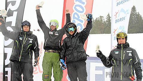 Подиума при мъжете в ски кроса. Снимка: Николай Дончев/BGlive