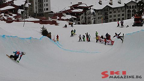 Очевидни са неправилните очертания на пайпа. Снимка: Николай Дончев BGLive/SkiMag