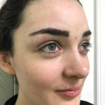 AFTER EYEBROW MICROBLADING