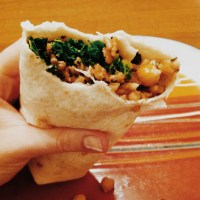 Rice, Bean and Kale Burrito