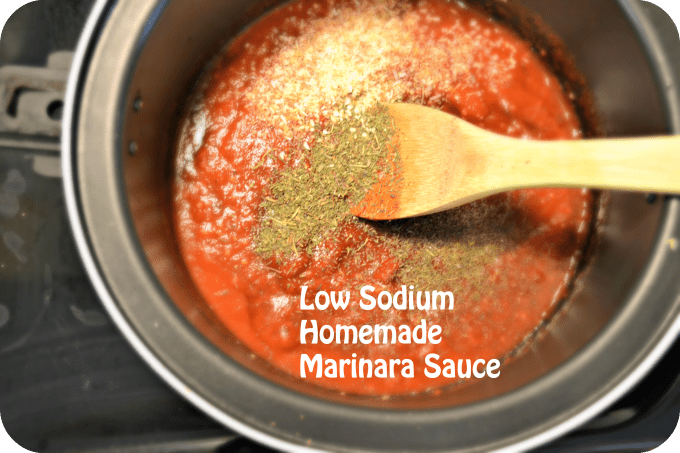 Low Sodium Marinara Sauce
