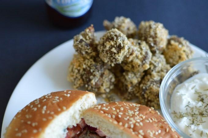 Easy Healthier Breaded Mushrooms