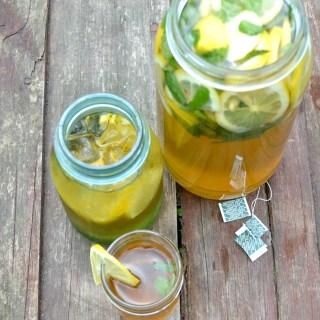 Green Tea Lemon Mint Detox Water for Cleansing 🤗💪