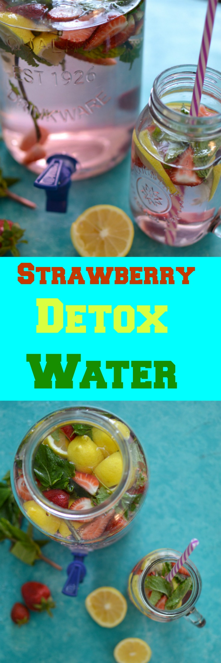 You will absolutely love this Skinny Strawberry Mint Detox water. This Drink actually will Control Your Blood Sugar Levels But It Also is filled with Loads Of Vitamins And Antioxidants. This drink will help flush toxins from your system right away. You'll gain more energy while not compromising on your health!