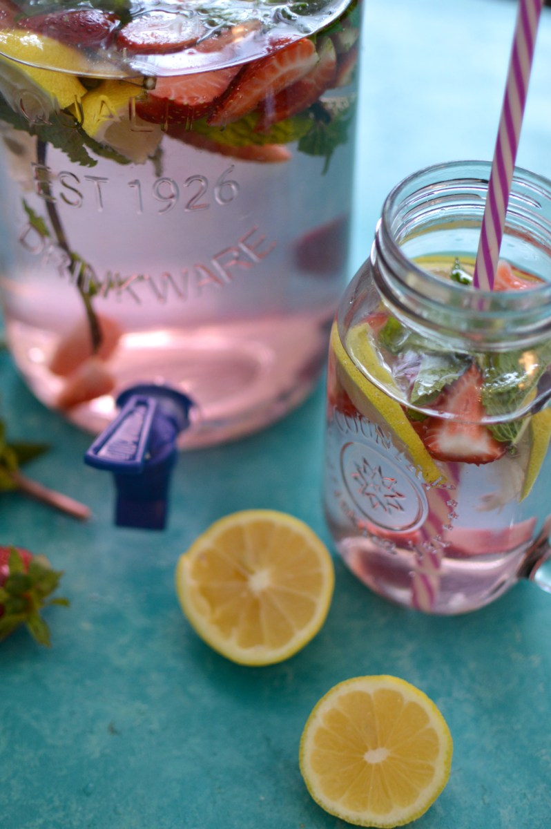 Skinny Strawberry Mint Detox Water
