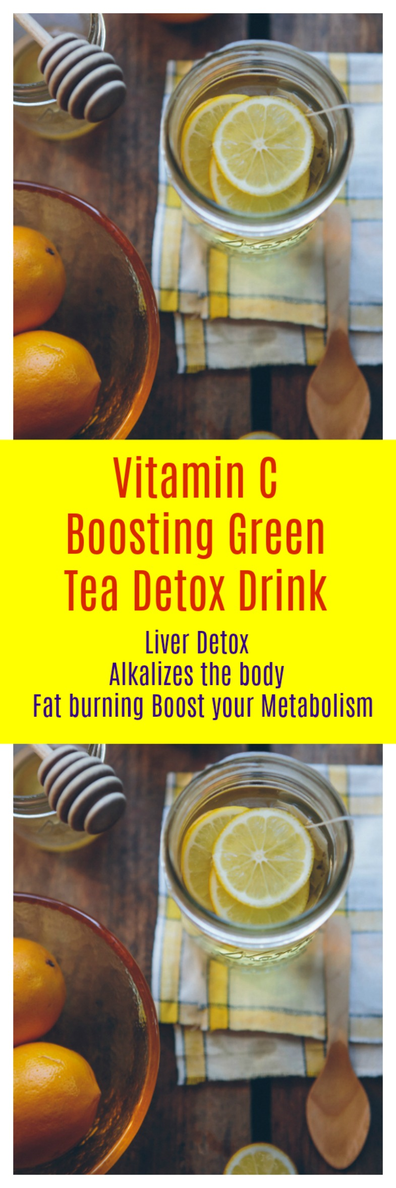 Vitamin C Boosting Green Tea Detox Drink is great for your overall health and it is loaded with antioxidants that you need each day.