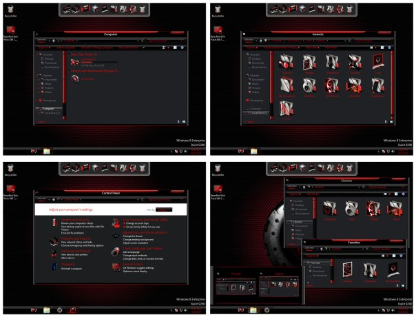 redr Red Alienware Skin Pack