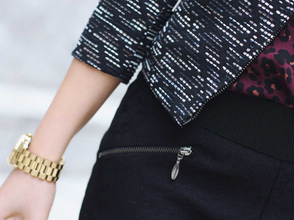 Tweed Jacket & Lace Pants