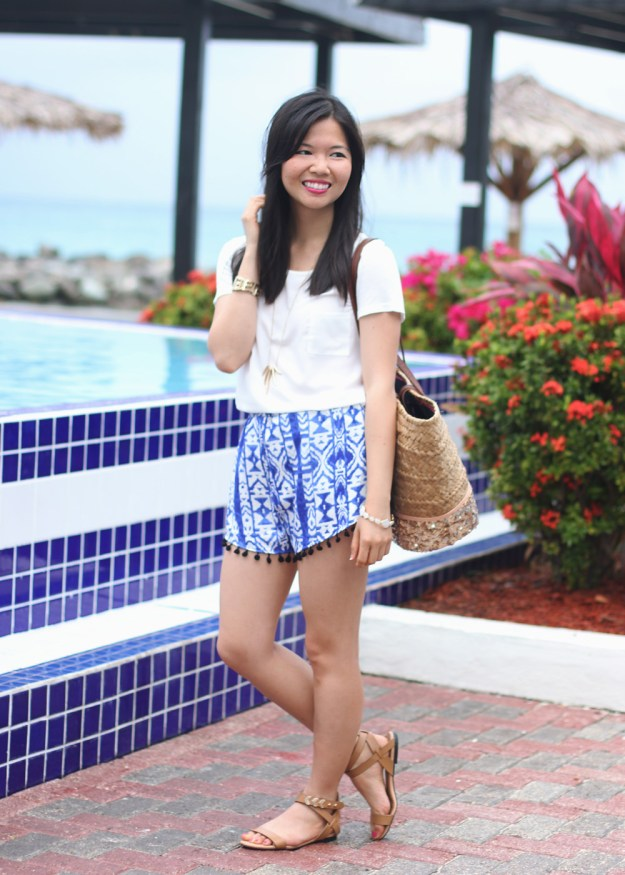 Summer Ikat Printed Shorts