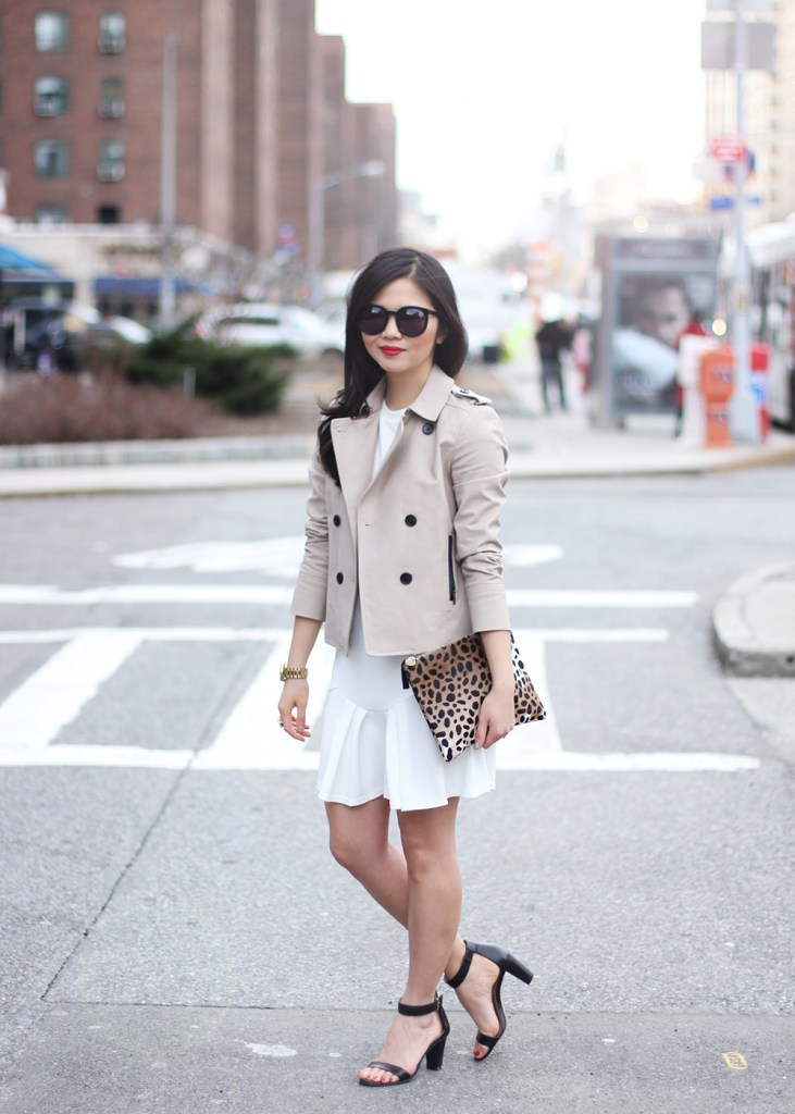 Skirt The Rules // Cropped Trench Coat & White Dress