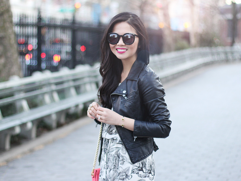 Skirt The Rules // Floral Dress & Moto Jacket