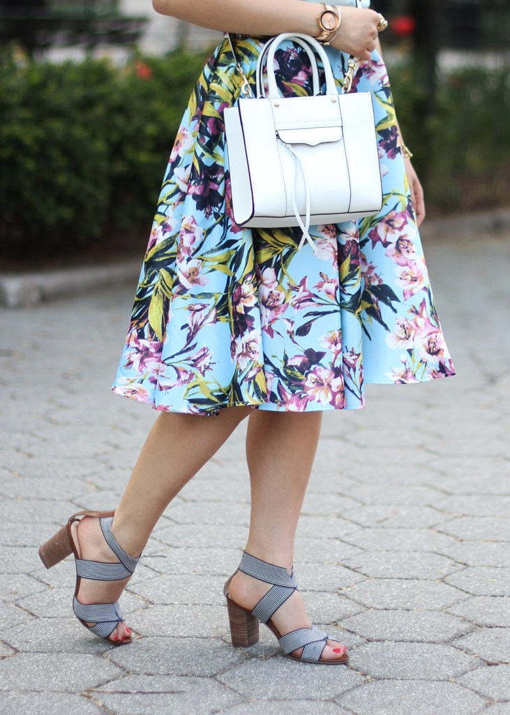 Skirt The Rules // Blue & Pink Floral Skirt