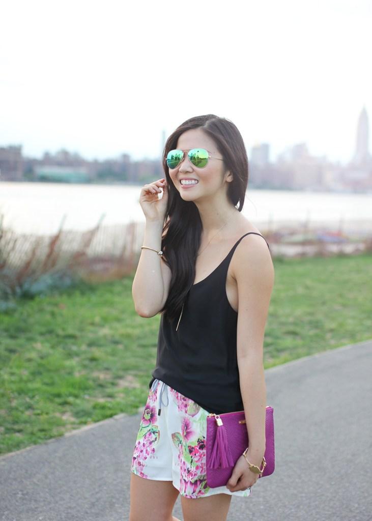 Skirt The Rules // Mirrored Ray-Ban Aviator Sunglasses
