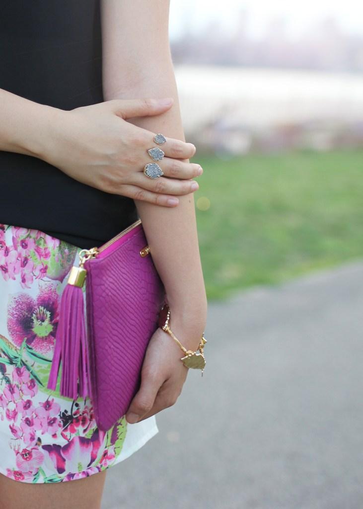 Skirt The Rules // Fuschia Tassel Clutch