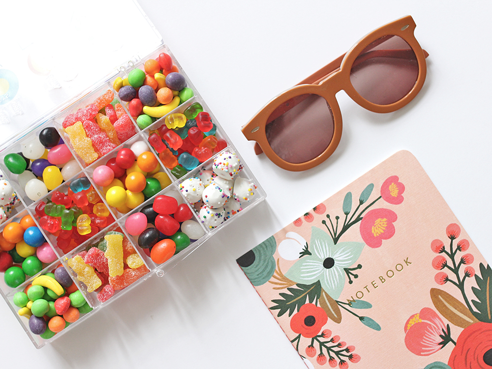 Skirt The Rules // Colorful Candy & Floral Notebook