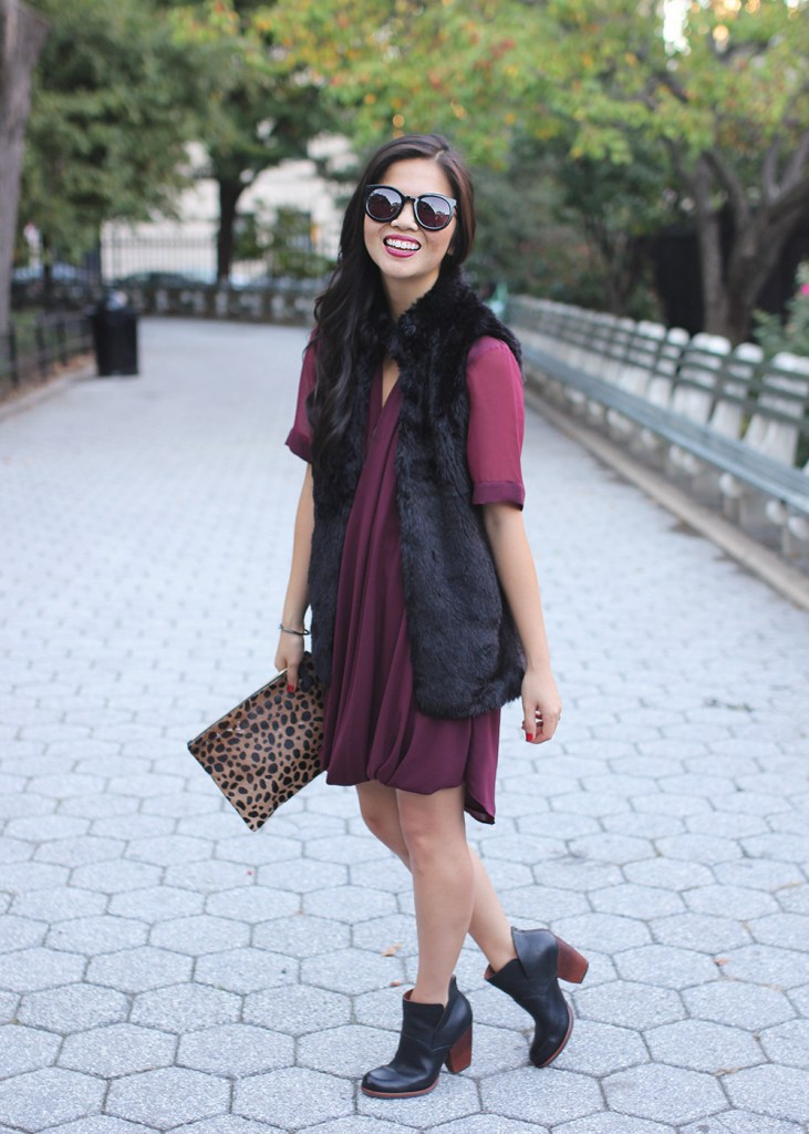 Skirt The Rules // Black, Burgundy and Leopard