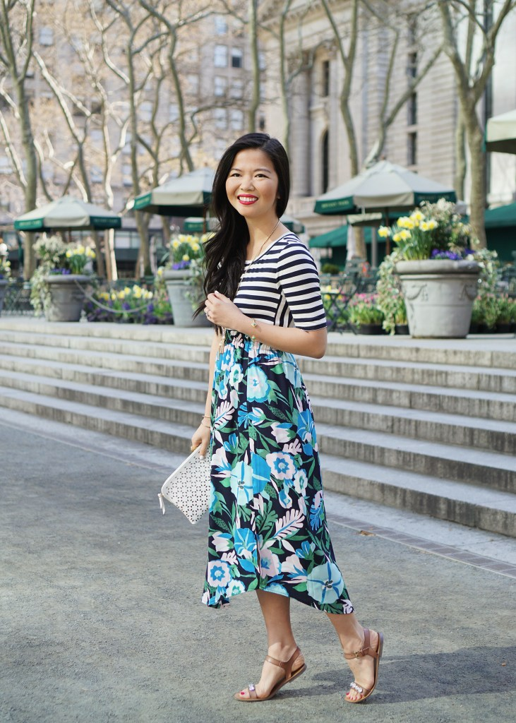 Skirt The Rules / Stripes & Floral Mixed Print Outfit