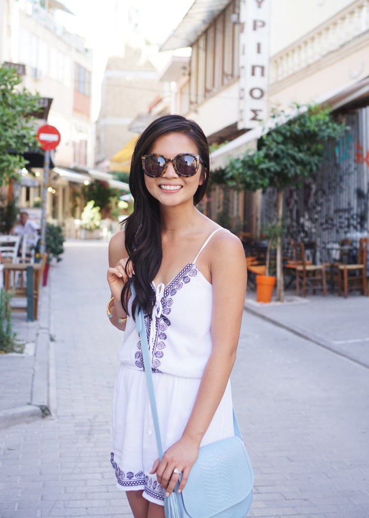 Skirt The Rules / White Romper in Greece