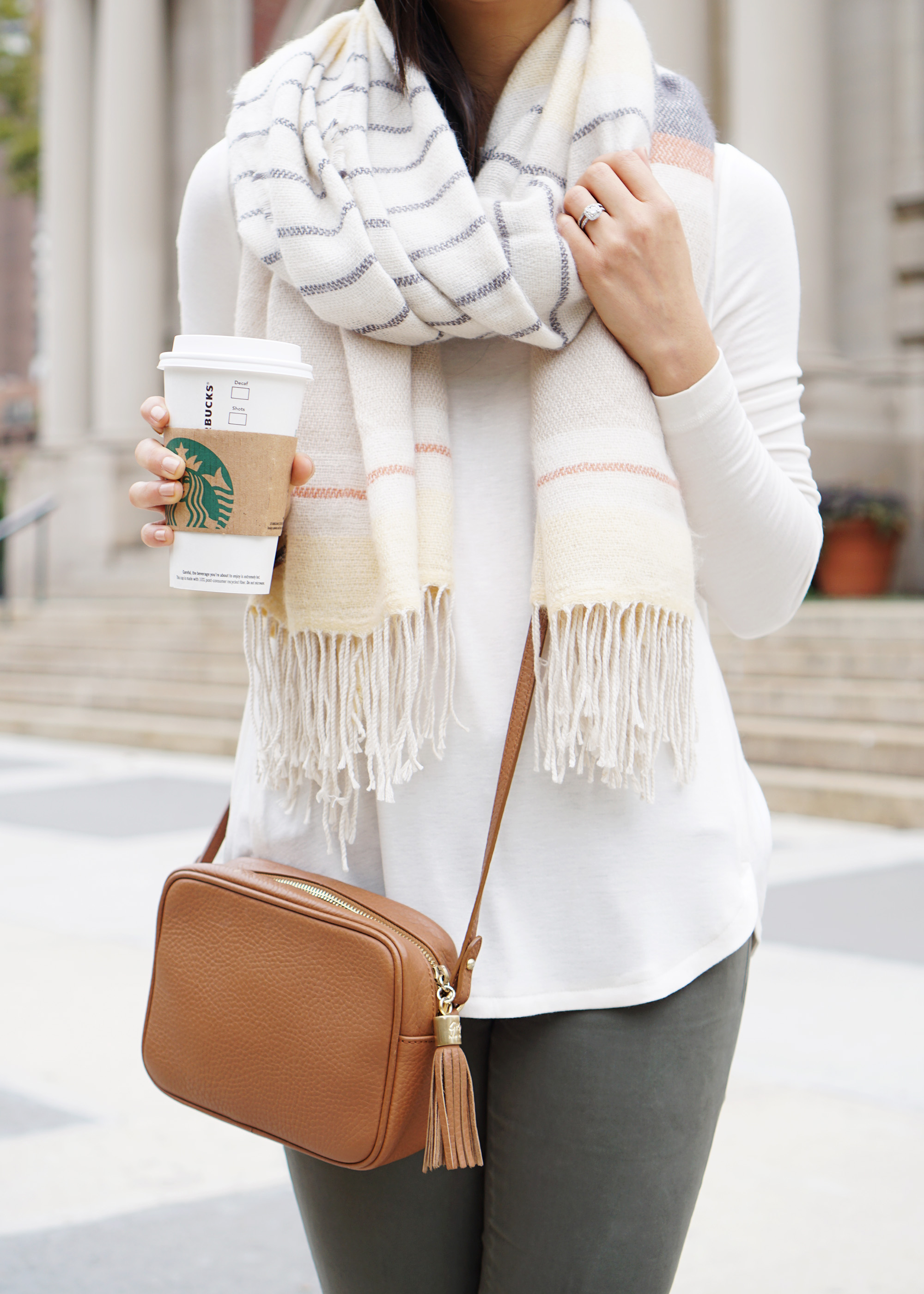 Skirt The Rules / Cozy Striped Scarf