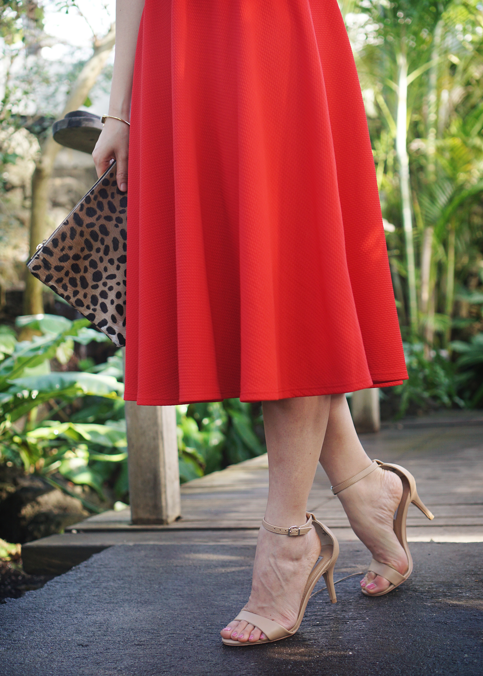 Skirt The Rules / Red Strappy Cutout Dress