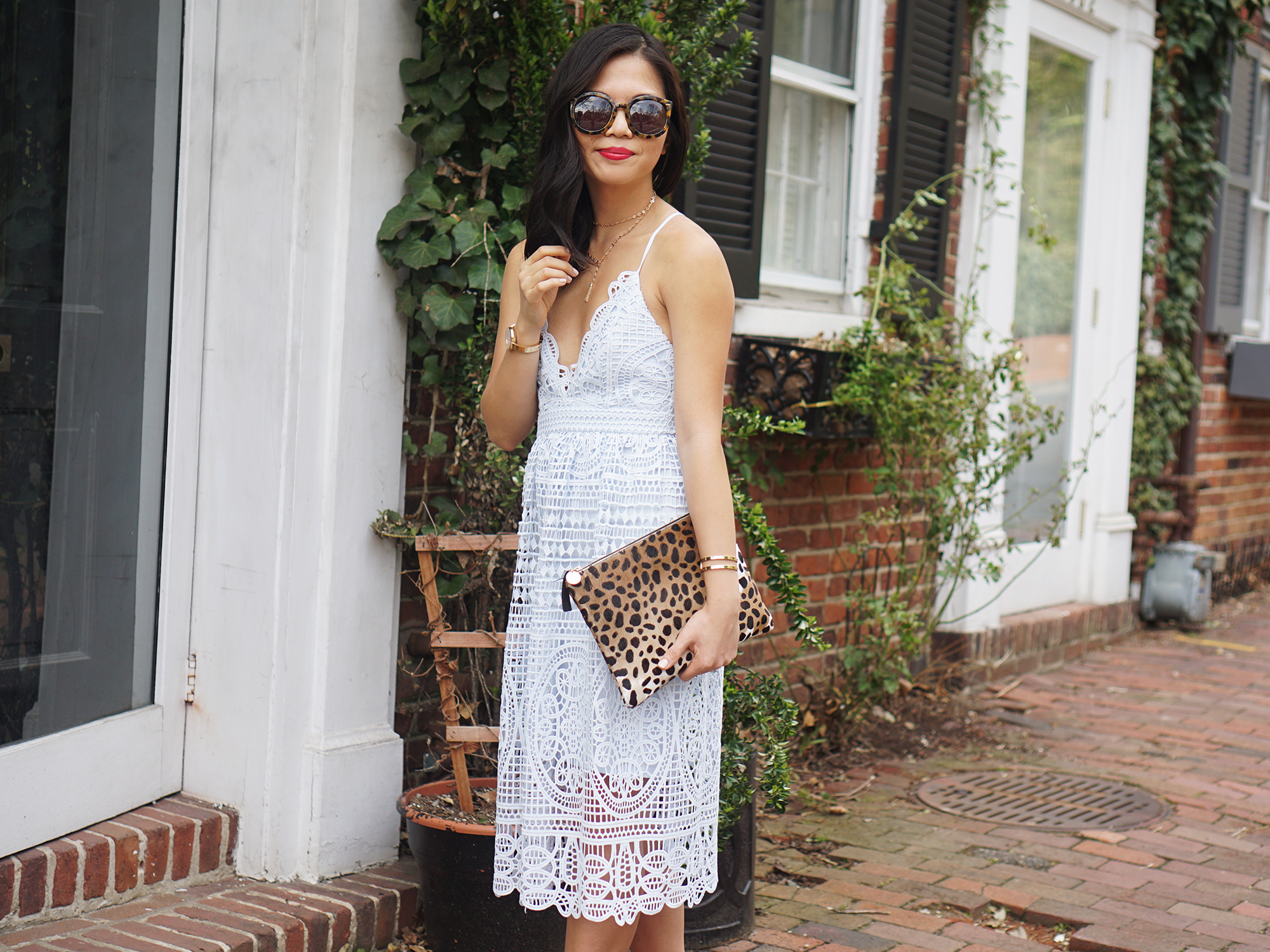 Skirt The Rules / Light Blue Lace Dress