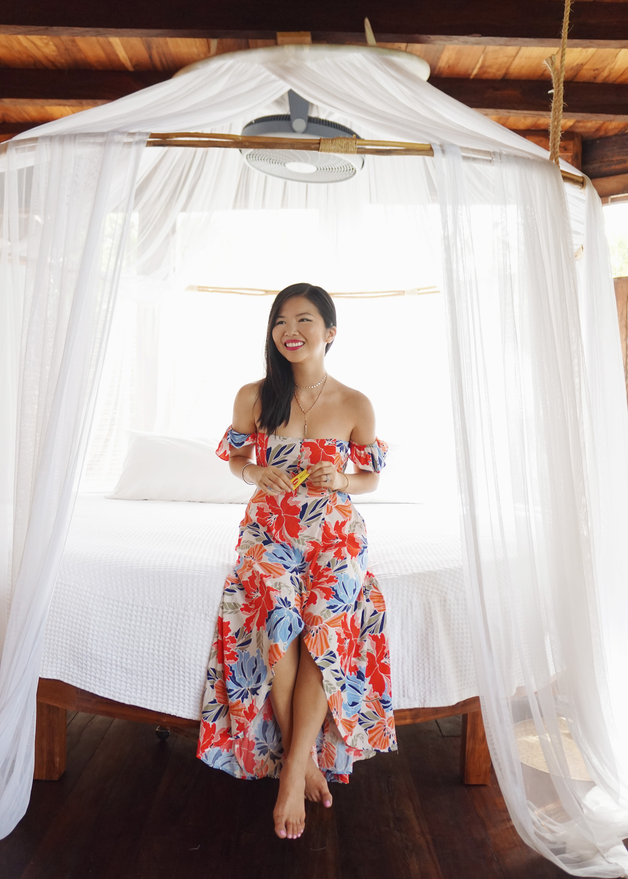 Skirt The Rules / Red Floral Maxi Dress