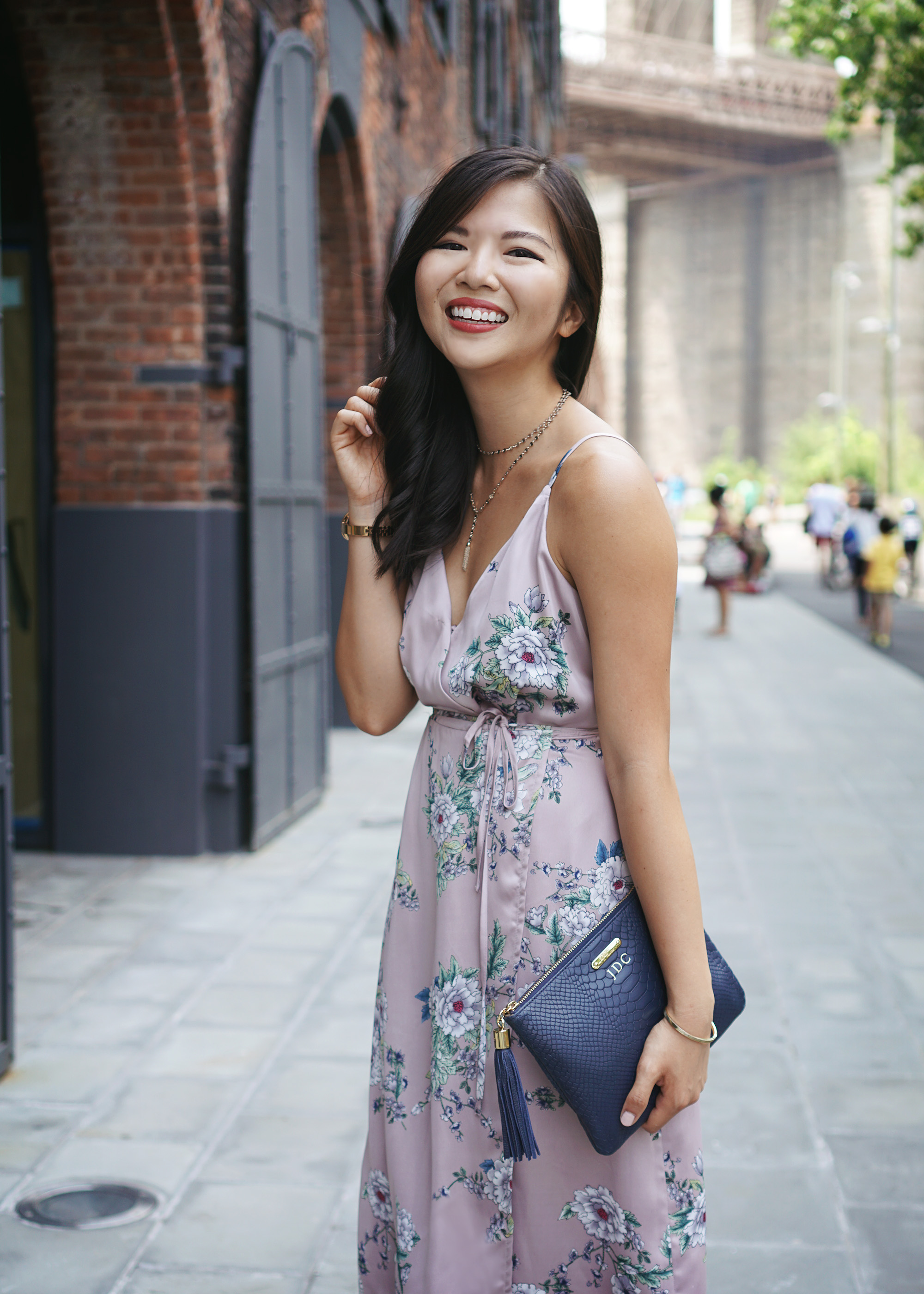 #NSale / Satin Floral Wrap Dress