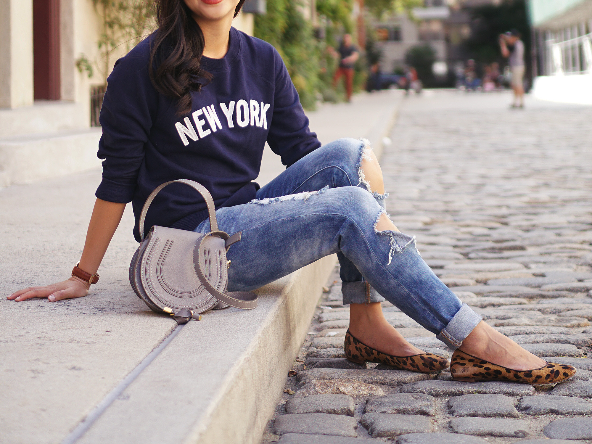 New York Navy Sweatshirt