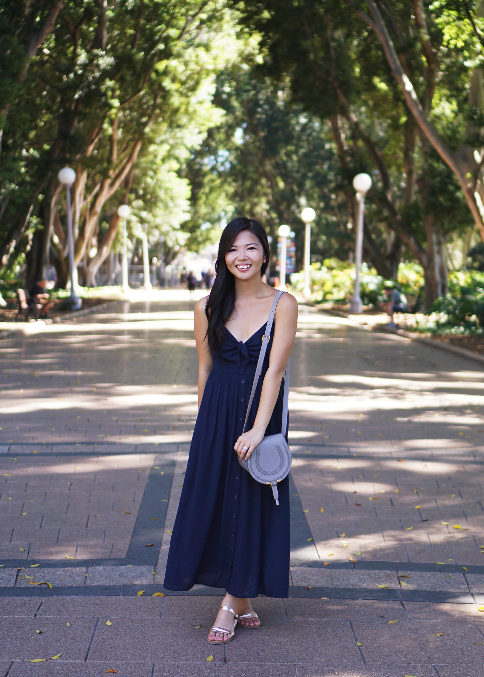 Summer Style in Sydney / Navy Maxi Dress