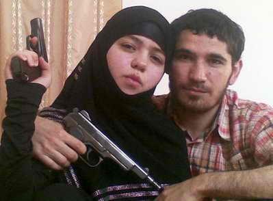 Чеченка-смертница с мужем-боевиком