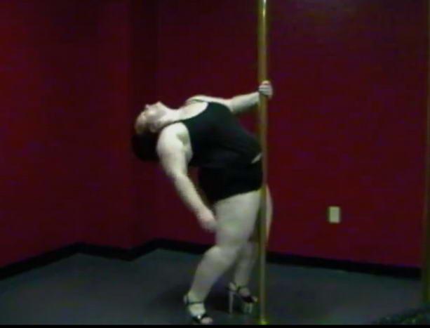 Луэйн Барбер - самая толстая стриптизерша в мире