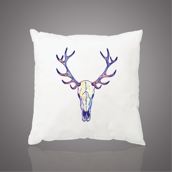 Images Produits - Coussin_Deer skull - pastel