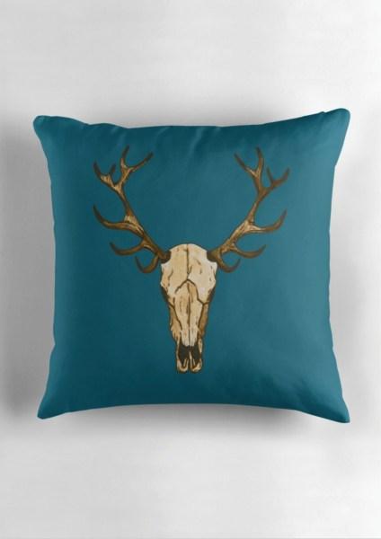Deer skull-Blue