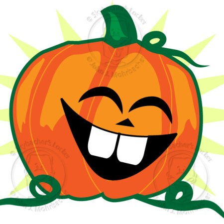 pumpkin cartoon, cartoon jack-o-lantern, halloween clipart