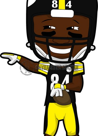 Antonio Brown Cartoon - Skybacher's Locker