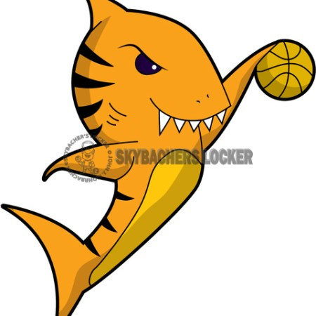 basketball logo, tiger shark cartoon, tiger shark clipart