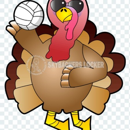 Cool Volleyball Turkey - Skybacher's Locker