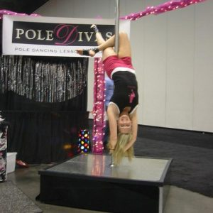 Stripper pole portable rental
