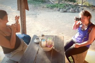 Coffee Buddies in a Thai Village