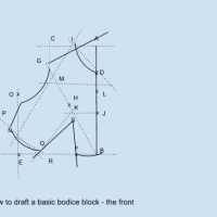 How to Draft A Fitting Back Bodice Block