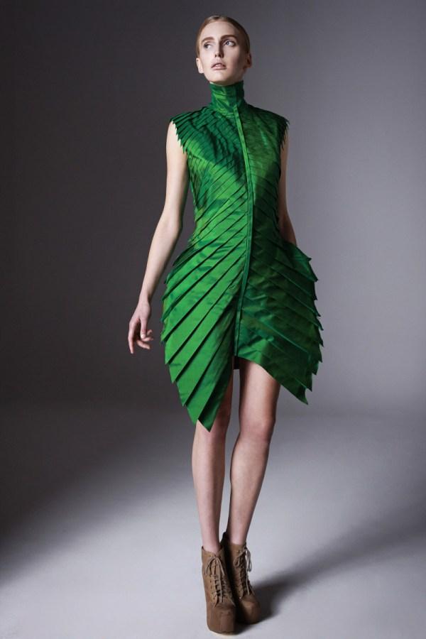 tropical leaf like dress